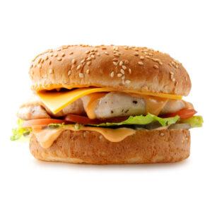 Чизбургер с курицей гриль