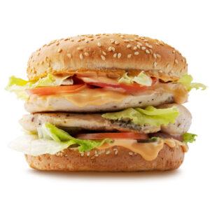 Дабл Гамбургер с курицей гриль