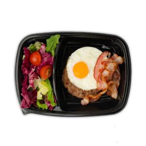 Шницель телячий с яйцом и беконом
